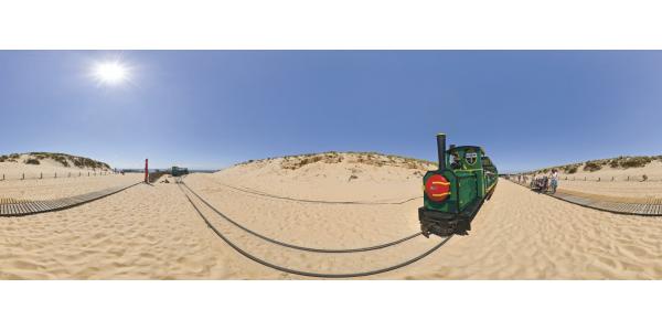 Cap Ferret - le petit train plage de l'horizon